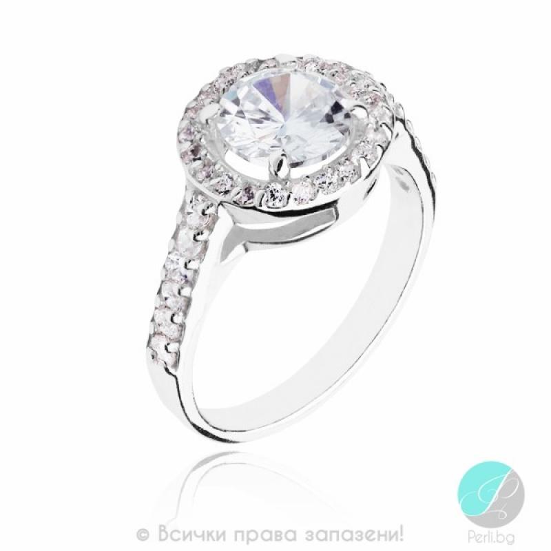 Damon - Сребърен пръстен с Цирконий 1695256-Сребърни бижута