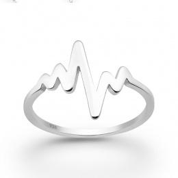 Alcinia -  Сребърен пръстен Пулс без Камък 10632226-Сребърни бижута