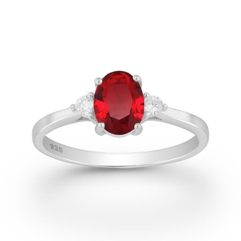 Violet - Сребърен пръстен с цветни Цирконий 70122169R-Сребърни бижута