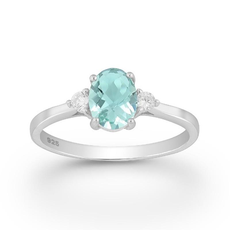 Violet - Сребърен пръстен с цветни Цирконий 70122169A-Сребърни бижута
