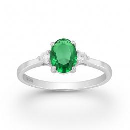 Violet - Сребърен пръстен с цветни Цирконий 70122169G-Сребърни бижута