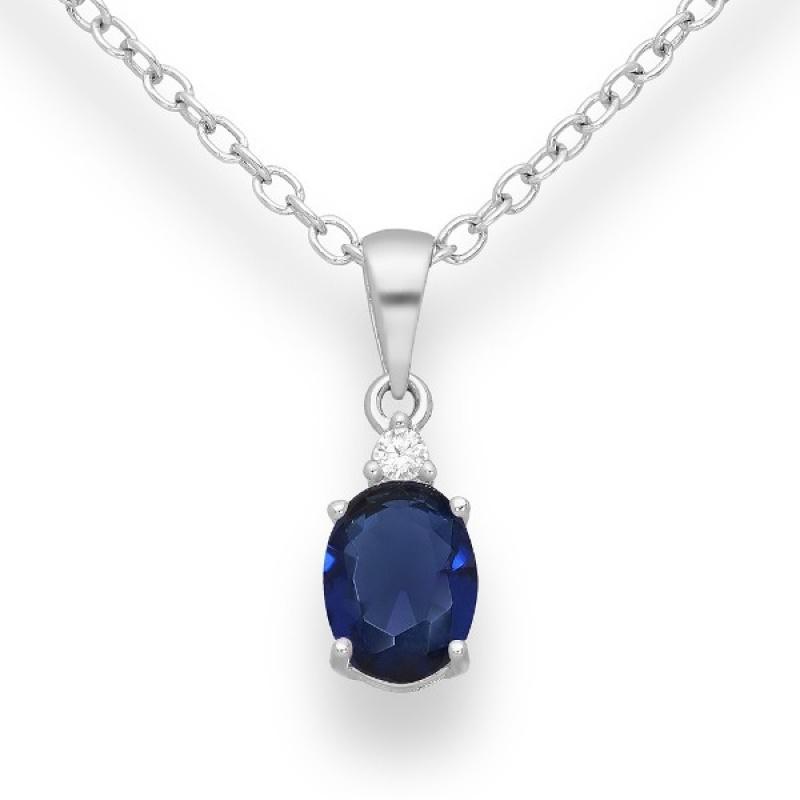Violet - Сребърна висулка с цветни Цирконий 70122171S-Сребърни бижута