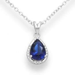 Belino - Сребърна висулка с Цирконий цвят Сапфир 70122389