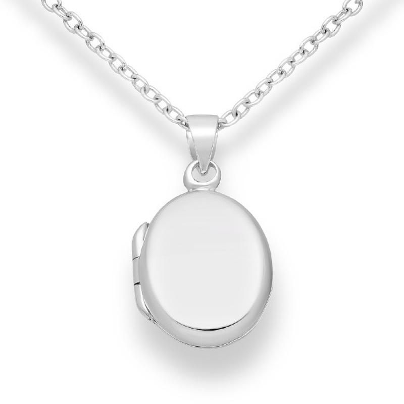 Bernadina - Сребърна висулка Овал без Камък 70628357-Сребърни бижута