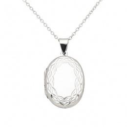 Jasmine - Сребърна висулка Овал без Камък 70631637-Сребърни бижута
