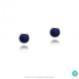 Diane - Сребърни обеци със син Резин с цвят Лазурит 607813235L-Естествени камъни