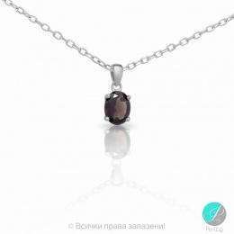 Еvonne - Сребърна висулка с Опушен кварц 13811811580K-Естествени камъни