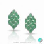 Neil - Сребърни обеци с Авантюрин 13811812153-Естествени камъни