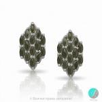 Neil - Сребърни обеци с кафяв Авантюрин 13811812153K-Естествени камъни