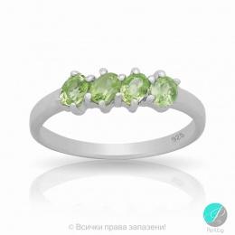 Reenie - Сребърен пръстен с Перидот 11812310P-Естествени камъни