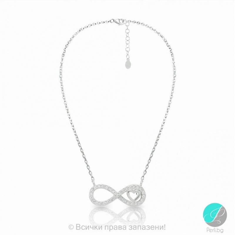 Claribel - Сребърно колие с Циркони Безкрайност 5370116853-Сребърни бижута