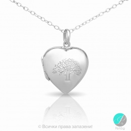 Love - Сребърна висулка Сърце 5470613125