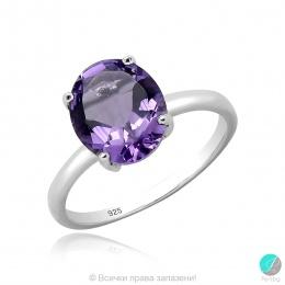 Clarice - Сребърен пръстен с Аметист 13811813065A