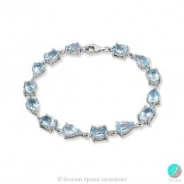 Emmie - Сребърна гривна със Син Топаз 13811812115-Естествени камъни