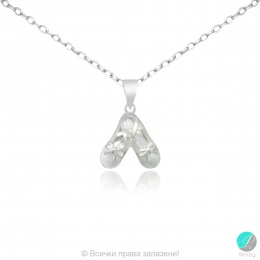 White - Сребърна висулка без камък 1063836-Сребърни бижута