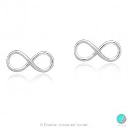 Infinity - Сребърни обеци без камък Безкрайност 5470615187-Сребърни бижута