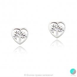 Lauressa 2 - Сребърни обеци без камък Дървото на живота 70617607