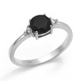 Abelie - Сребърен пръстен с Циркони 70123316B-Сребърни бижута