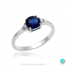 Abelie - Сребърен пръстен  с Циркони 70123316S-Сребърни бижута