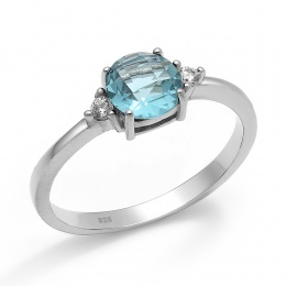 Abelie - Сребърен пръстен с Циркони 70123316T-Сребърни бижута