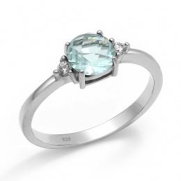 Abelie - Сребърен пръстен с Циркони 70123316A-Сребърни бижута