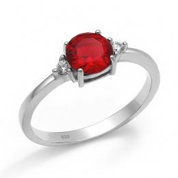 Abelie - Сребърен пръстен с Циркони 70123316R-Сребърни бижута