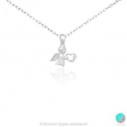 Angel 7 - Сребърна висулка Ангелче 1710631053