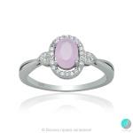 Evalyn - Сребърен пръстен с Циркон цвят розов кварц 5370118673-Сребърни бижута