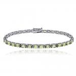 Reni - Сребърна гривна с Перидот 2199PER-Естествени камъни