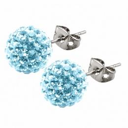 Leesa - Сребърни обеци с кристал Swarovski s10166-Кристали