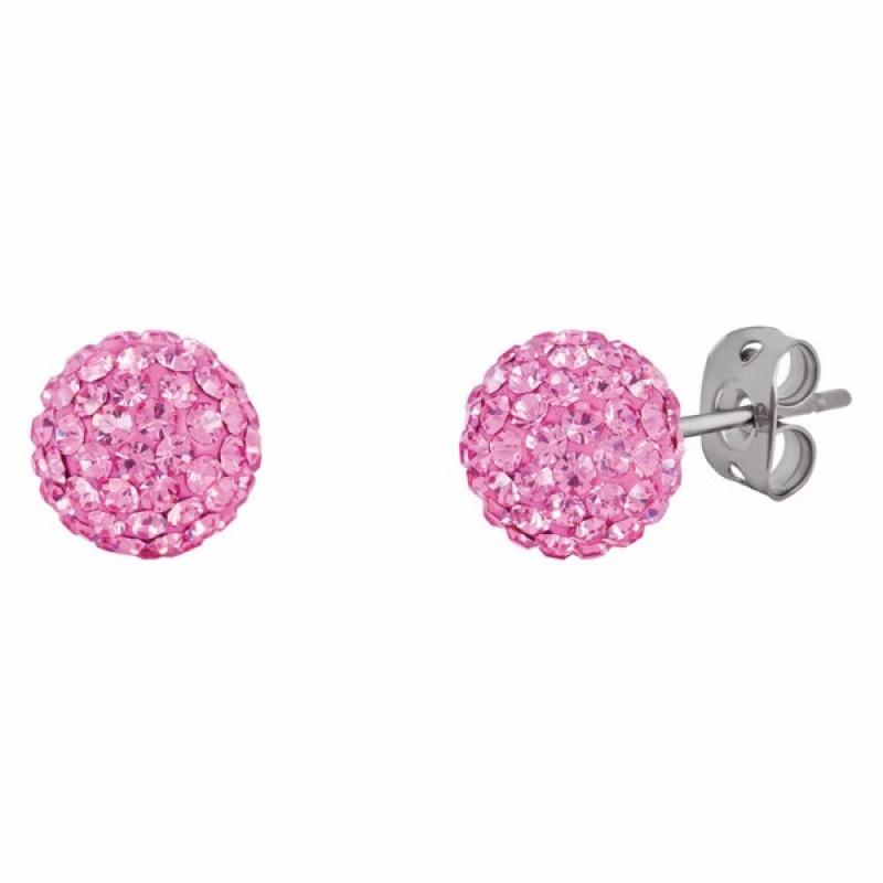 Leesa - Сребърни обеци с кристал Swarovski so302-Кристали