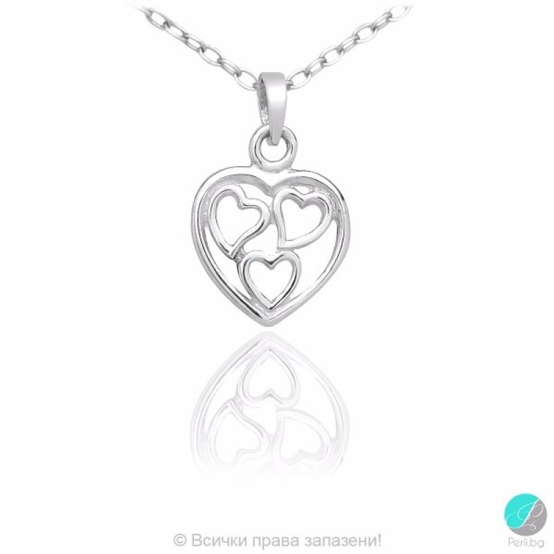 Hearty - Сребърна висулка Сърце 5470620985-Сребърни бижута