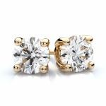 Nigella - Златни обеци 585 с Циркон 99119-Сребърни бижута