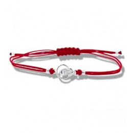 Lydie - Сребърна гривна с червен конец Икона - Шамбала s81513-Сребърни бижута