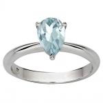 Harlan - Сребърен пръстен със син Топаз s1665-Естествени камъни