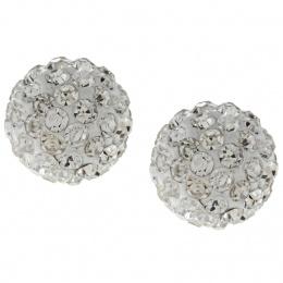 Leesan - Сребърни обеци с кристал Swarovski so313