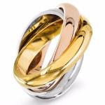 Ericka - Сребърен пръстен тройна халка 2039s-Сребърни бижута