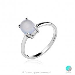 Elisabeth - Сребърен пръстен с Халцедон 1018A-Естествени камъни