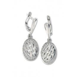 Florentina - Сребърни обеци без камък 128085-Сребърни бижута