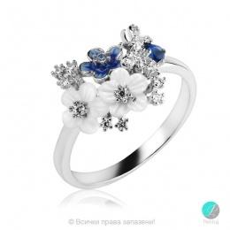 Princess - Сребърен пръстен с Циркони 1333A-Сребърни бижута