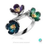 Alessia - Сребърен пръстен с емайл 1335A-Сребърни бижута