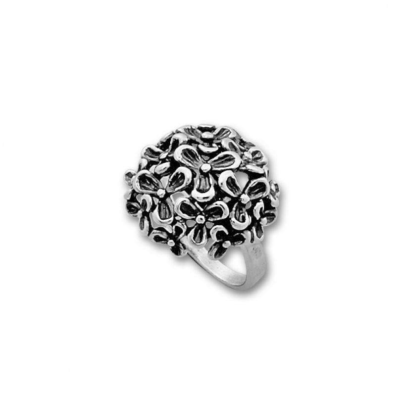 Gillian - Сребърен пръстен Цветя без камък 1545978-Сребърни бижута