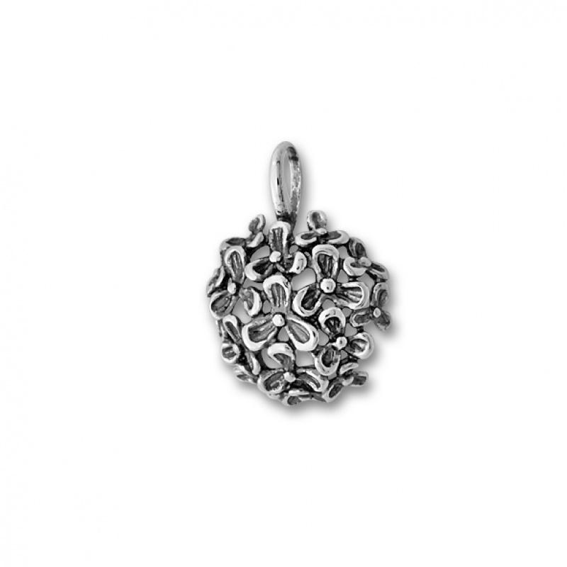 Gillian - Сребърна висулка Цветя без камък 181978-Сребърни бижута