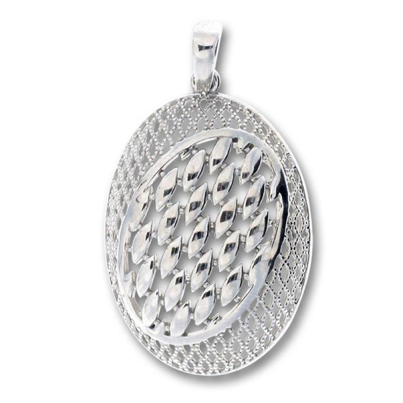 Florentina - Сребърна висулка без камък 188085-Сребърни бижута