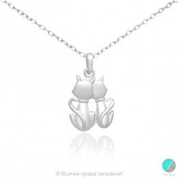 Cats - Сребърна висулка Котета 171063720-Сребърни бижута