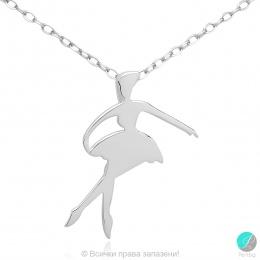 Ballerina 8 - Сребърна висулка Балерина 171063835-Сребърни бижута