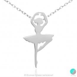 Ballerina 9 - Сребърна висулка Балерина 171063856-Сребърни бижута
