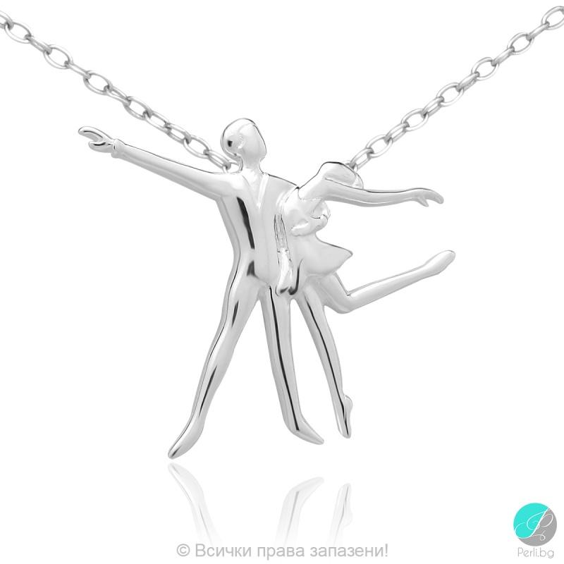 Ballerina 5 - Сребърна висулка Балерина - танц 171063857-Сребърни бижута