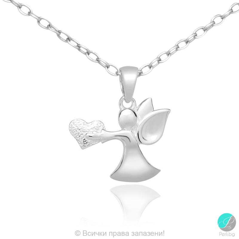Angel 9 - Сребърна висулка Ангелче 171063958-Сребърни бижута