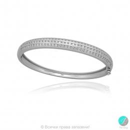 Krista 2 - Сребърна твърда гривна с Циркони 5370119221